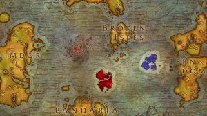 World of Warcraft Novi otoci karta